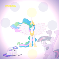 Princess Celestia and her faithful student desktop by candylotmlp