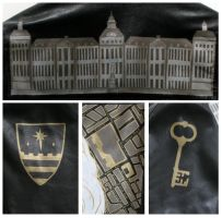 Bedlam Leather Painted Jacket Details by wraithwitch