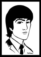 George Harrison by ChibiCelina