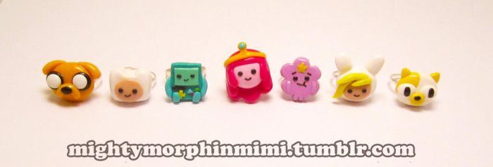 Adventure Time Rings with PB by Mighty-Morphin-Mimi