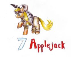 Applejack as 7 by Pickledsuicune