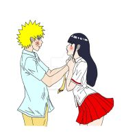 NaruHina - Confession by ButterflyFire