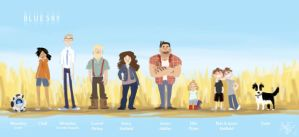 Blue Sky: Lineup by nooby-banana
