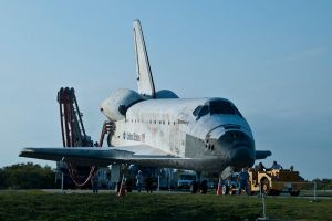 STS-133 Discovery Tow Back by hansepe