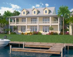 Lake House Rendering by zodevdesign