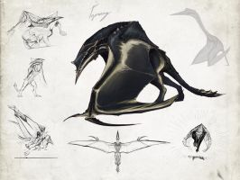 Hyperendocrin quetzalcoatlus by Tapwing