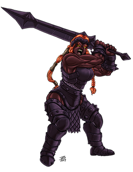 Female Fire Giant by ProdigyDuck