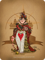 Disney steampunk: Queen of heart by MecaniqueFairy