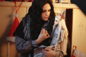 Thorin and BJD Thranduil by AnnaProvidence