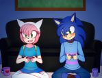 Gamer Date with cosplay by SUPERALEX2623