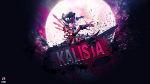 Kalista ~ League of legends - Wallpaper by Aynoe