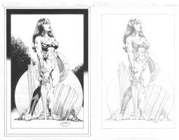 Wonder Woman_before+after by MichaelBair
