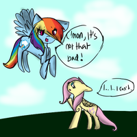 .: I.. I.. I can't. :. (Rainbow Dash X Fluttershy) by TwistedAnchor