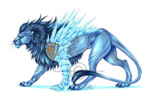 -C- Ice Lion by Shadow-of-Destiny
