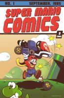 Super Mario Action Comics #1 by geogant