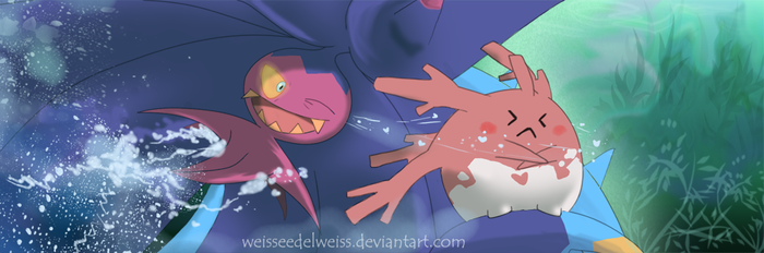 Toxapex Flirts with Corsola by WeisseEdelweiss