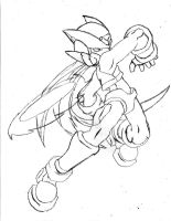 Megaman Zero sketch by Pure2153Light