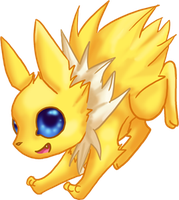 CUTE Jolteon by dragowlfly