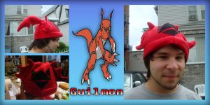 Guilmon Hat by CelestialCrafts