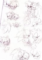 Sonamy sketches by MistrissTheHedgehog