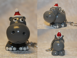 COMMISSION - Christmas Hippo ! by AnimalisCreations