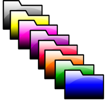 Glossy Folder Icons by puffthemagicdragon92
