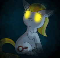 lonely little ghost filly by TeamRocketsPikachu