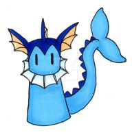 simplified pokemon vaporeon by Baka-customs