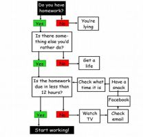 Homework Flow Chart by x-EQ-x