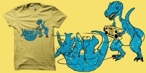 Prehistoric B-boys shirt by biotwist