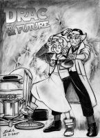 Drawlloween Drac to the Future by bar1scorpio