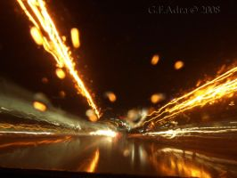 wet 'n' crazy roadlights by Gin-ny