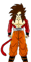 Zerot ssj4(lineart by superyuten101) by ssgohan5