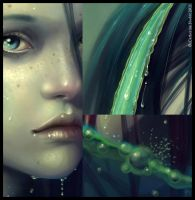 The naiad of Fincastle details by CatherineNodet