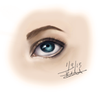 Digital Painting - Eye Sketch by wolfskyla