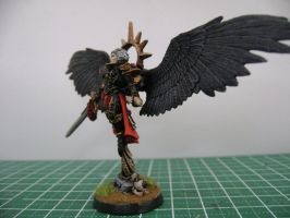 St Celestine miniature left view by jnalye