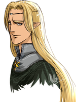 30mn Portrait : Glorfindel by MellorianJ