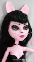 monster high repaint Cat Create a monster portrait by phairee004