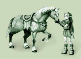 Link and Epona II by ficus
