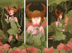 The Flower Witch by nokiarts