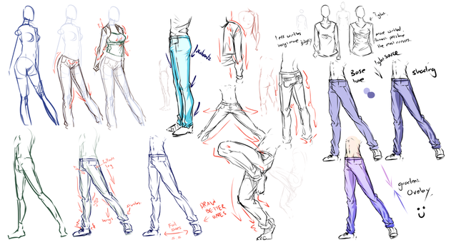 Pants,jeans,clothes study .... by moni158
