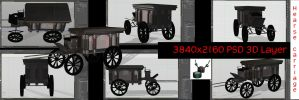 Hearse Carriage PSD 3D Layer by ArthurRamsey