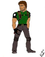Chris Redfield Colored by WhirledlyGoodz