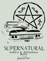 Impala and Pentagram Brush by LaraRules81