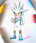 Silver The Hedgehog by PinkeyApple