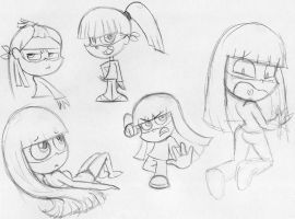 DieGirl sketches by AmigoDan