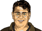 Smiling Friendly Happy Glasses Guy by jpatterson