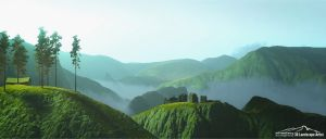 The Green Hills by 3DLandscapeArtist
