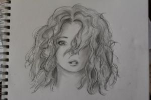 Curly Hair Sketch by PatchesVonGore