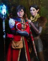 Hawke and Merril - DragonAge 2 by RayneRg